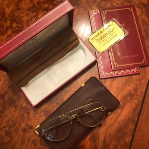 Auto Cartier Santos Gold Metal Glasses 135x56x16